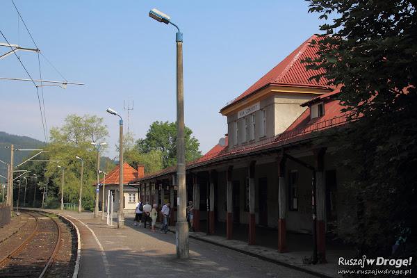 Dworzec PKP w Wiśle - moglibyśmy tutaj dojechać
