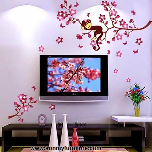 Trang trí nhà đón Tết với giấy dán tường mùa xuân-3