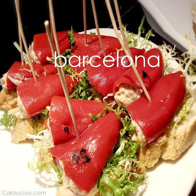CarouLLou.com CarouLLou in Barcelona Spain tapas pimientos +-