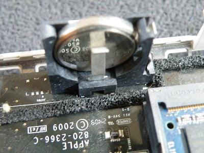 Mac mini (Early 2009 : MB463J/A)の内蔵電池