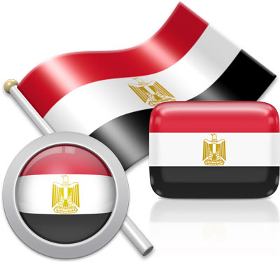 Egyptian flag icons pictures collection