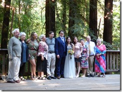 Anna's mother's side of the family -- Michael and Anna, Wedding Day, Camp Meeker California, July 21, 2018