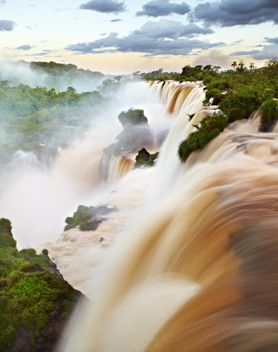Water pouring over Iguazu Falls. From The Big Trip: Your Ultimate Guide to Gap Years and Overseas Adventures
