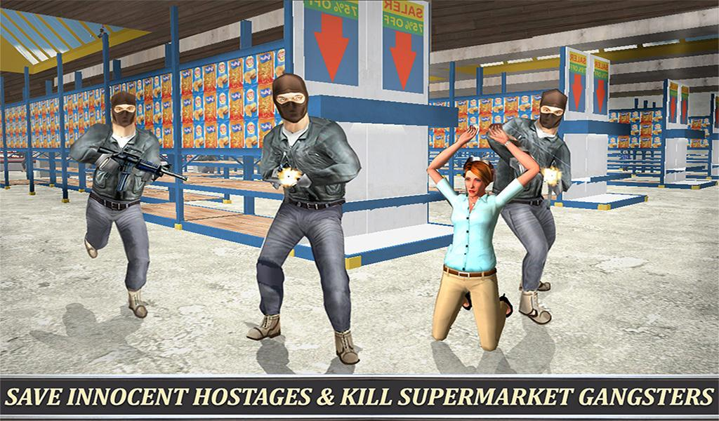 Supermarket SWAT Sniper Rescue- screenshot