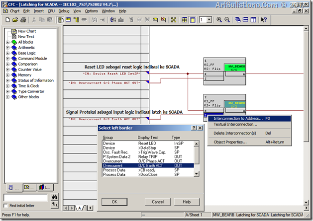 Connecting Protection Signals to Latch Indication Logic for SCADA