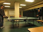 a good ol ping pong rivalry in a hockey locker-room brings everything back to normal.