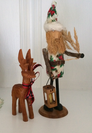 Christmas carvings by my dad