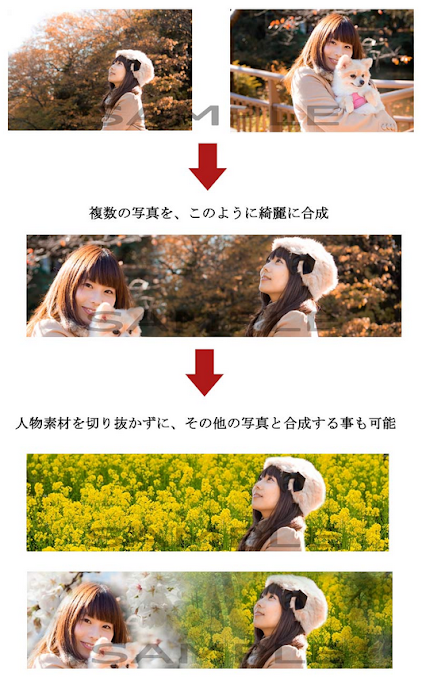 GIMP 画像合成