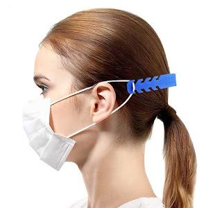 Extensii de masca de protectie, colorate 19x2 cm, Set 5 bucati