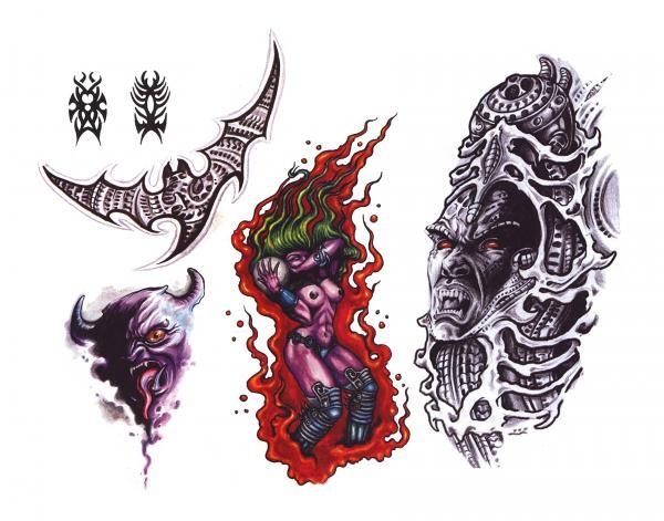 Silent Tattoo Design 13, Fantasy Tattoo Designs
