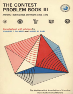 The Contest Problem Book III - 1966-1972