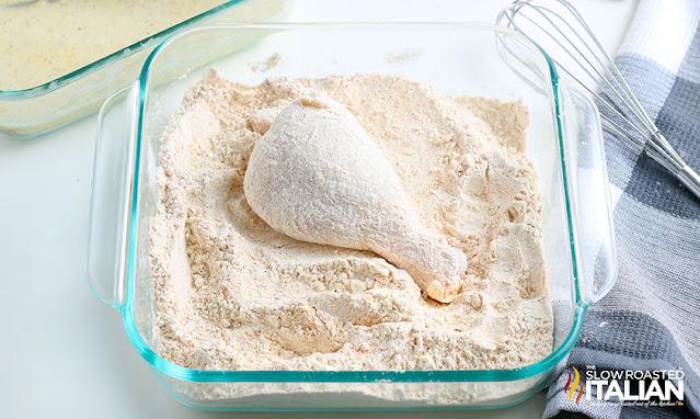 Air Fried Chicken chicken leg in the flour