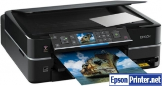 How to reset flashing lights for Epson PX710W printer