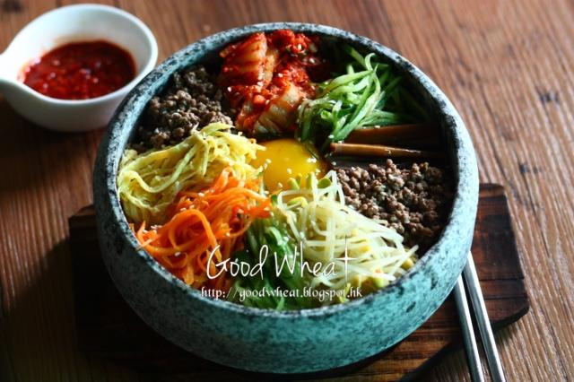 Good Wheat: 韓式石頭鍋泡菜拌飯食譜(비빔밥Bibimbap)