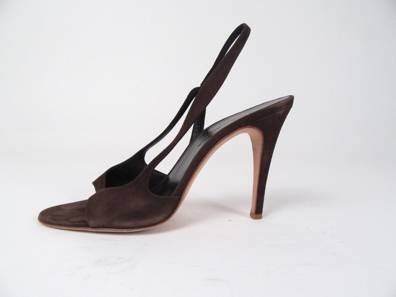 Balenciaga Brown Suede Sandal
