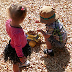 LePort Montessori Preschool Toddler Program Huntington Beach - toddlers playing outside
