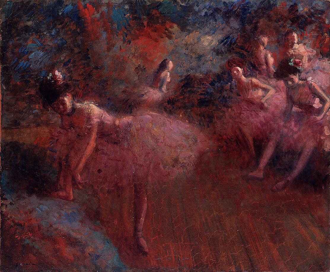 Jean-Louis Forain - Dancers in Pink