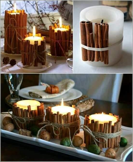 Como Decorar Velas Con Varitas De Canela - Como-decorar-una-vela