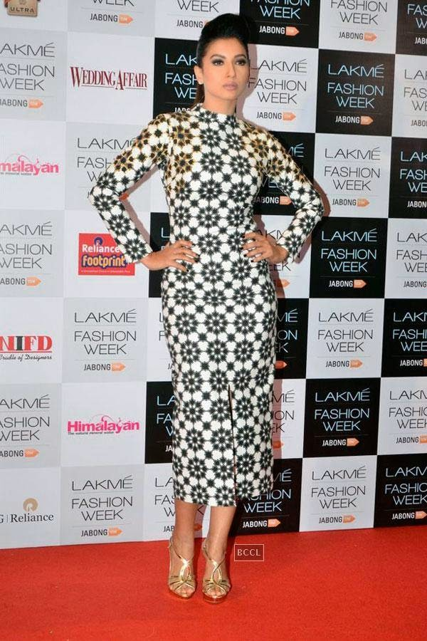 Gauhar Khan during Lakme Fashion Week curtain-raiser, held in Mumbai, on July 28, 2014. (Pic: Viral Bhayani)
