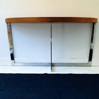 Contemporary Demi-Lune Console Table