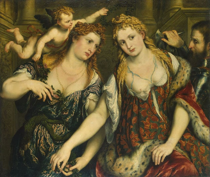 Paris Bordone - Allegory (Venus, Flora, Mars and Cupid)