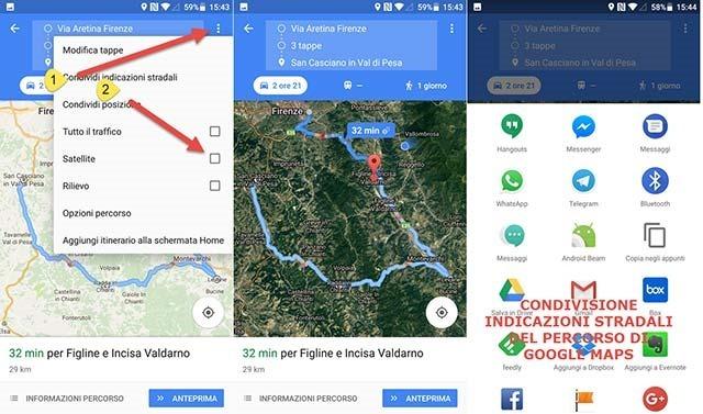 satellite-condivisione-itinerario