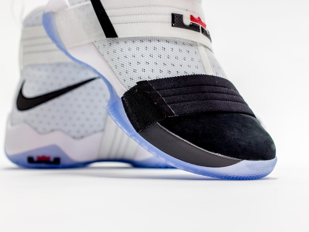 new styles 83c46 34baa Available Now Nike LeBron Soldier 10 Black Toe ...