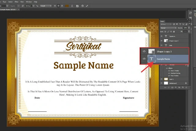 Download Sertifikat PSD Adobe Photoshop