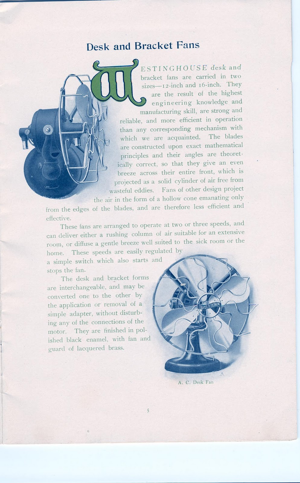 1906+Westinghouse+Fan+CatalogPage+5 early electric fans the westinghouse \