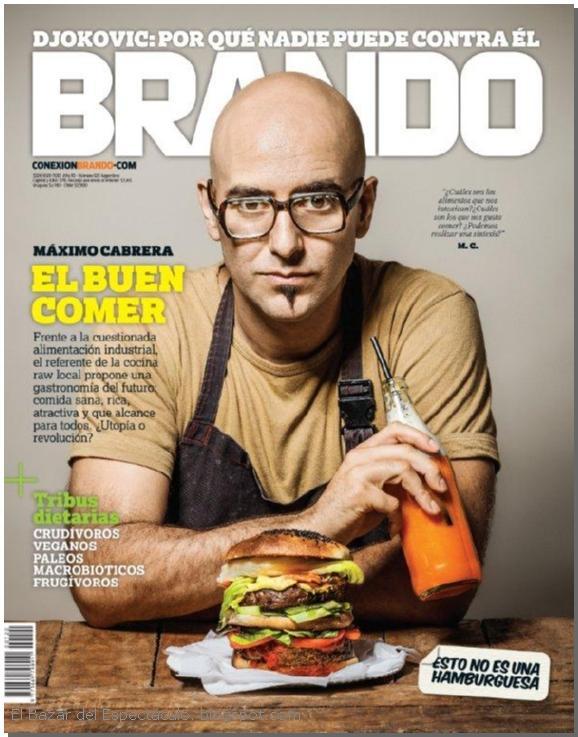 Maximo cabrera en revista brando marzo 2016 tapa y for Bazar del cocinero