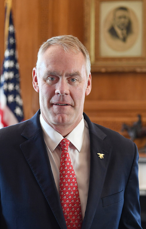 Ryan Zinke's official United States Secretary of Interior portrait. Photo: Tami Heilemann / U.S. Dept. of Interior