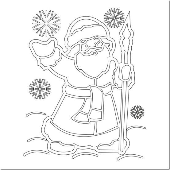 patrones para recortar ventanas navidad  (19)