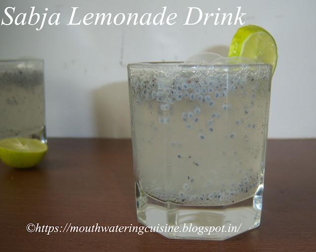 Sabja Lemonade Drink