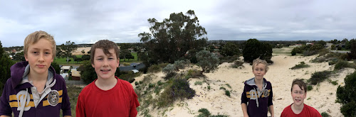 with Ben and Seb on Dunes in Perth