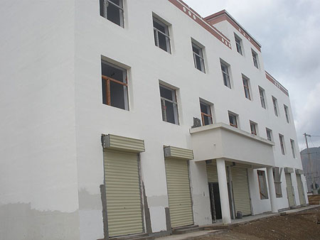 Stages of the building of Amdo Eye Hospital 2009