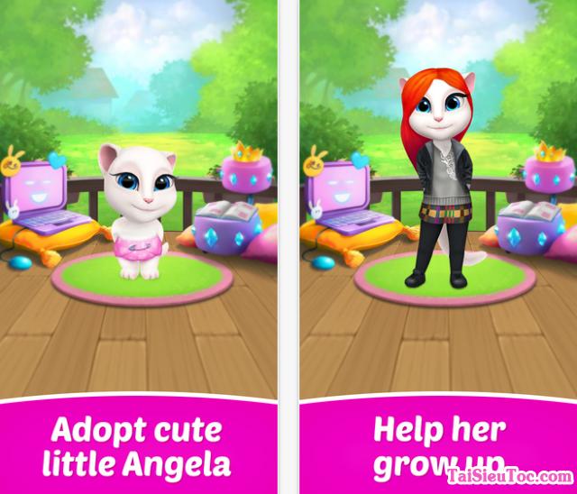 giới thiệu game chăn mèo My Talking Angela