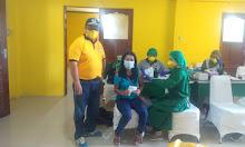 HUT Ke-57, DPD Golkar Gelar Vaksin Dua Hari Di Keraton Kesuma Negara