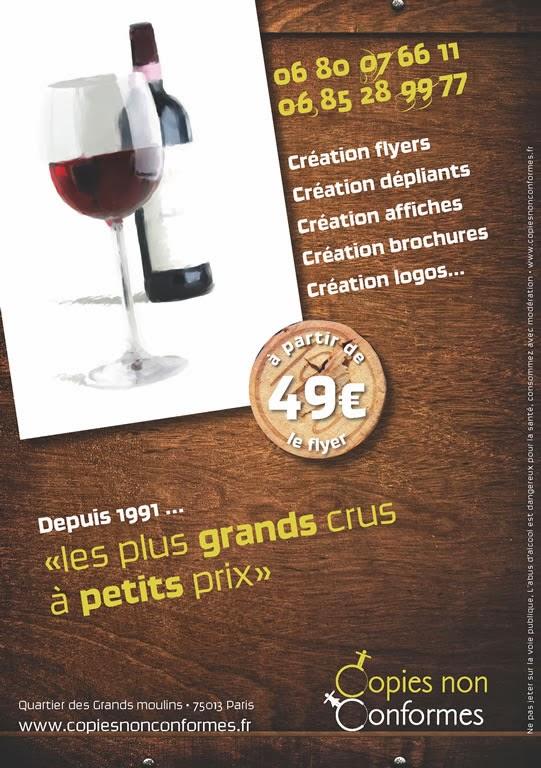 création flyer Caviste