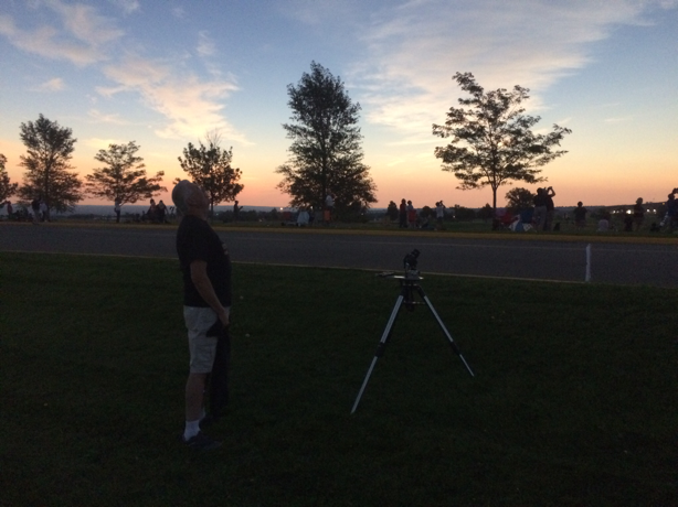 view at Casper College during eclipse totality