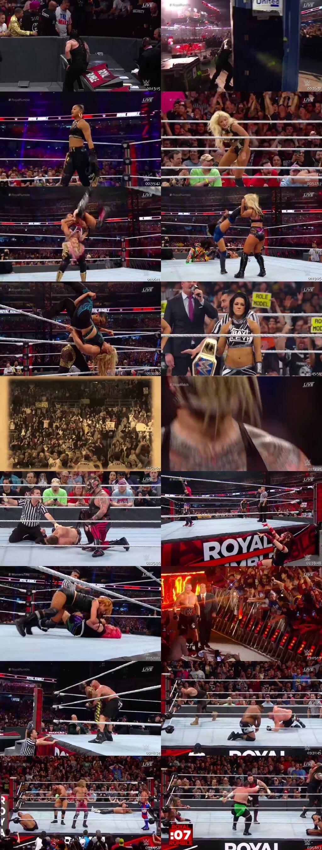 Screen Shot Of WWE Royal Rumble 26th January 2020 HDTV 480P 300MB