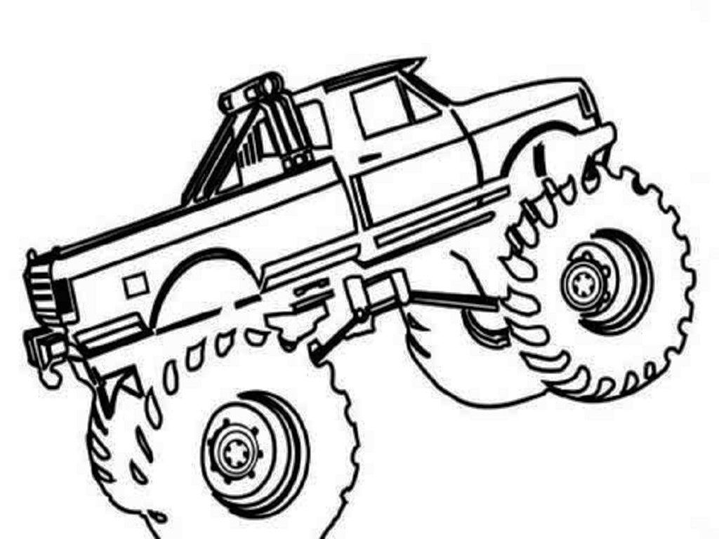 Coloring Page For Children Little Monster In Library: Top 10 Truck Coloring Pages For Boys Library