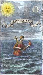 Mercury Emerging From The Sea Je Muller Wunder Materie 1707, Alchemical And Hermetic Emblems 1