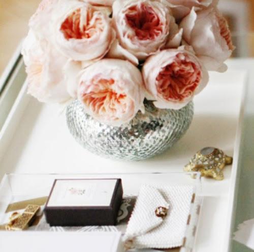 Interior Design Home Decor Pale Pink Flowers