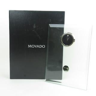 Movado Crystal Desk Clock
