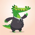 Cartoon Funny Crocodile Free Download Vector CDR, AI, EPS and PNG Formats