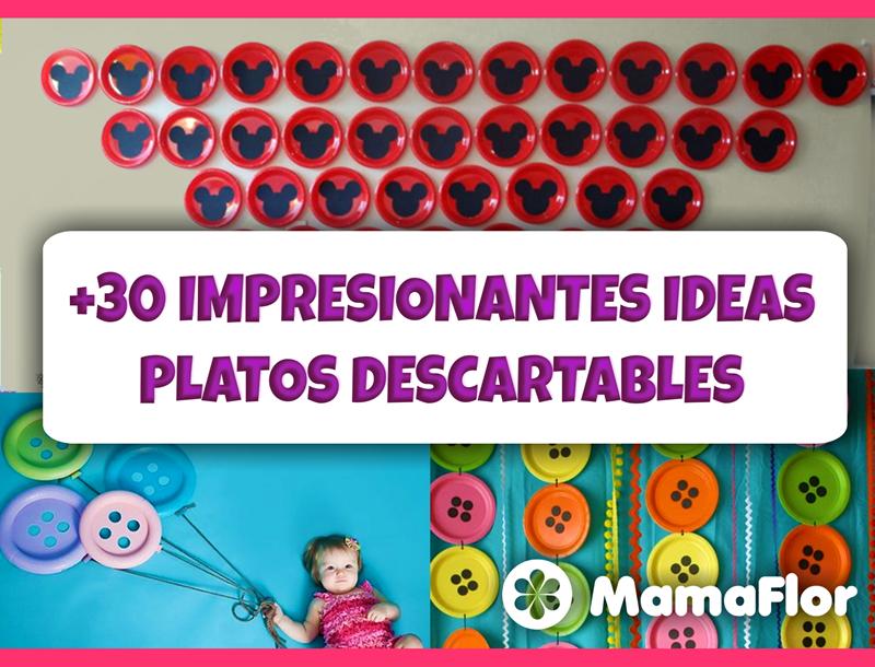 IMPRESIONANTES manualidades con Platos Descartables