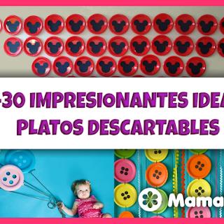 +30 Ideas para Decorar con Platos Desechables + Manualidades!