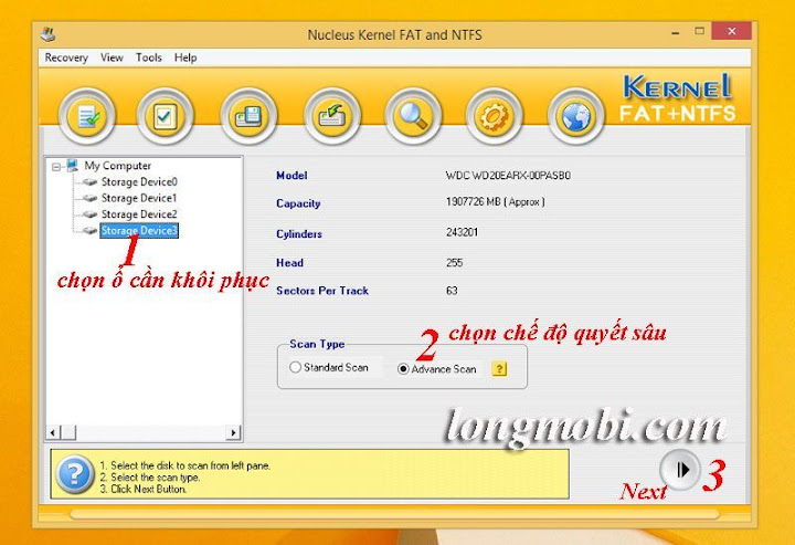 phan mem khoi phuc du lieu o cung