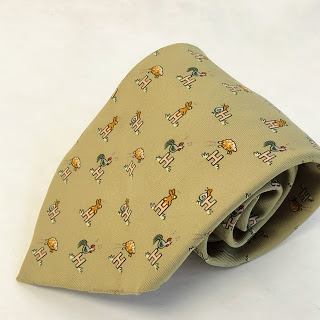 Hermès Chartreuse Farm Animal Tie