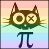 rainbow pie cat icon
